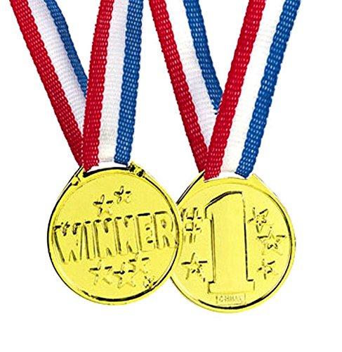 Beyond Dreams® Medaglia d'oro 12 Pezzi per Bambini | Gold Medal Come Premio per i Giochi Sportivi di Compleanno | Vincitori della medaglia d'oro | per Le competizioni per Bambini | Giocattoli