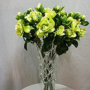 YESBAY Artificial Flowers Gardenia Silk Fake Flowers in Bulk, for Wedding Festive Party Home Office Decoration, Not Include Vase.