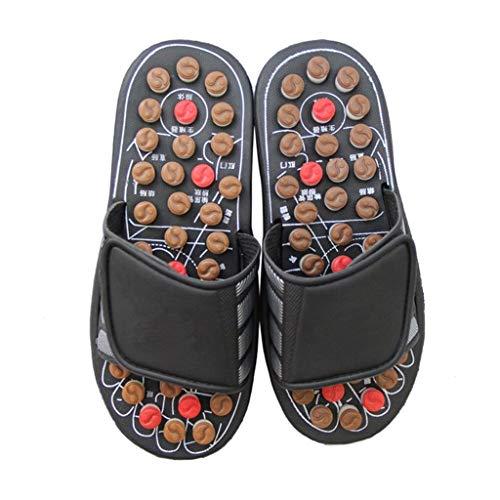 Zapatillas de masaje para aliviar la presión de los pies, deslizadores de masaje de ancho ajustable Shiatsu Relax Sandalias mezcla con ducha y función de secado rápido, absorción de golpes, suela de cojín zapatos de casa zapatillas de gimnasio