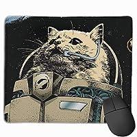マウスパッド 猫宇宙飛行士 ゲーミングマウスパット 最適 高級感 おしゃれ 防水 耐久性が良い 滑り止めゴム底 ゲーミングなど適用 マウスの精密度を上がる( 25*30 Cm )