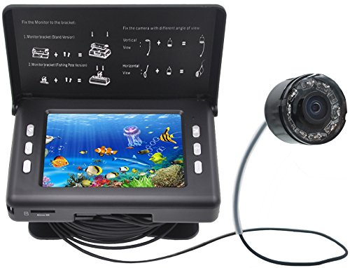 XIKEZAN Fishing Finder 1000TVL Underwater Fish Video Camera with 3.5' Color LCD Screen & Infrared...