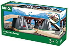 Product includes - The Collapsing Bridge comes with 3 pieces including two tracks and a bridge. Perfect for the creative toddler - Expand your budding train engineer's collection with a Collapsing Bridge toy train accessory. It's the perfect gift for...