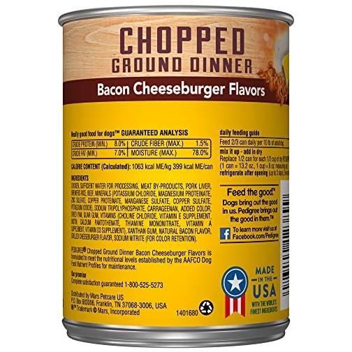 PEDIGREE Chopped Ground Dinner Wet Dog Food, 13.2 oz. Cans 4