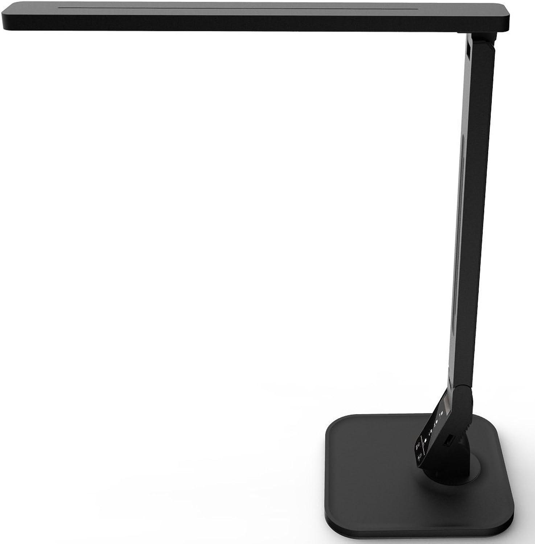 SUKILIU LED-Tabellenlampe, Dimmable LED-Schreibtischlicht mit USB-Lading-Port, 4 Leuchtmodi 5 Brightness Touch Control