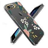 OTOFLY Schutzhülle für iPhone SE 2020, iPhone 7/8, schlank, vollständiger Schutz, stoßfest, klares Blumenmuster, stilvoll, transparent, kompatibel mit iPhone SE 2020/7/8 (2019), Gänseblümchen / Grün