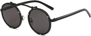 Metal retro round frame sunglasses reflective sunglass women mirror men eyewear
