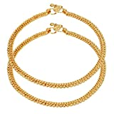 Jwellmart Set of Indian Traditional Designer Anklets Ethnic Wedding Fashion Jewelry for Women and Girls