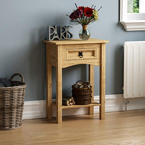 Amazon Brand - Movian Home Vida Corona 1 Drawer Console Table with Shelf, 70 x 50 x 31 cm