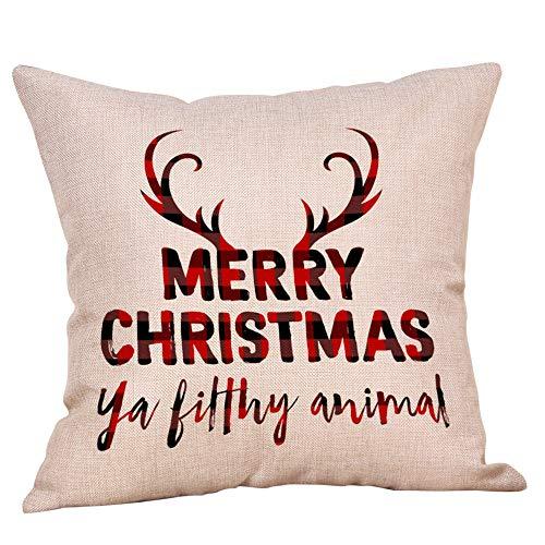 Vovotrade Merry Chrismas kussensloop, met tekst bedrukt familie naar huis katoen, linnen, sierkussen, sierkussen, kussensloop, kussensloop