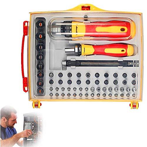 LONGWDS Destornillador 62 en 1 Juego de destornillador magnético profesional, destornillador de precisión Los kits de herramientas de reparación de electrónica para teléfonos inteligentes, reloj, tabl