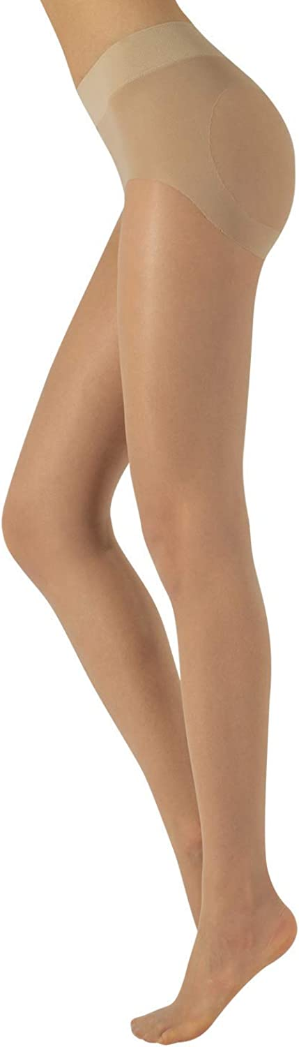 CALZITALY Push Up Tights, Control Top Pantyhose, Sheer Tights   20 DEN   S, M, L, XL   BLACK, SKIN   MADE IN ITALY  