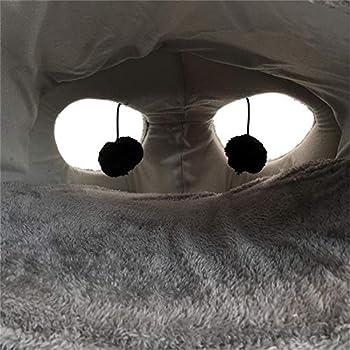 Happyshop18 Grottes de chat Chaud Maison de chat Chat Tunnel Lit Chiot Lapin Nid Grotte Lit Grotte Design Cartoon Mouse 50 x 40 x 21 cm