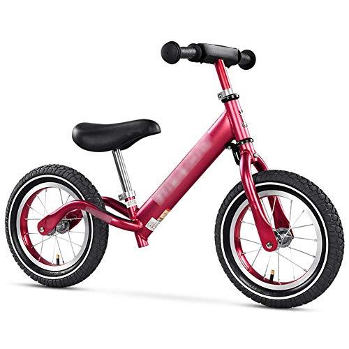 12/14 Pulgadas Ligera Bicicleta de Equilibrio for 2-8 Años de Edad niños, niños, Planeador Bicicleta de Empuje de la Bicicleta con Manillar Ajustable y el Asiento (Color : 3, Size : 12 Inch)