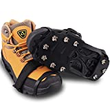 WIN.MAX Ice Snow Grips, Anti Slip Winter Ice Grippers Snow Traction Cleats with 10 Spikes for Walking,...
