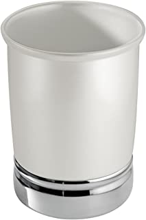 iDesign York Bath, Tumbler Cup for Bathroom Vanity Countertops - Pearl White