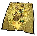 prettystern 90 cm Pintura decorativa Impresión pañuelo para el cuello Vincent Van Gogh Quince girasoles P502