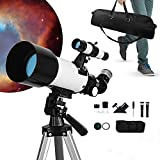 InLoveArts Telescopio Espacial monocular, Lente de 70 mm de diámetro, telescopio astronómico portátil para Principiantes, telescopio de Paisaje estronómico con Distancia Focal de 300 mm