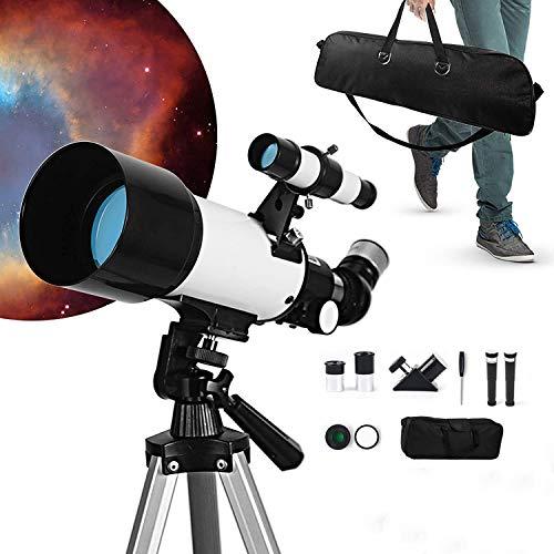 InLoveArts Monokular-Weltraumteleskop, Anfängerteleskop, 70 mm Objektivlinsendurchmesser, astronomisches Landschaftsteleskop mit Einer Brennweite von 300 mm, großartiges pädagogisches Spielzeug