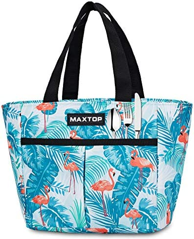 MAXTOP Lunch Bags for Women Insulated Thermal Lunch Tote Bag Lunch Box with Front Pocket for product image