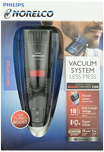 Philips Norelco BeardTrimmer 7300, vacuum trimmer with adjustable length settings (Model # QT4070/41)