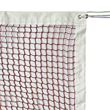 GeWeDen Badminton Net, Outdoor Indoor Badminton Tournament Net Replacement with Steel Cable Rope (20 FT x 2.5 FT) (Net Only) (with Steel Cable Rope)
