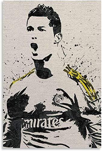 Puzzle 200 Piezas Rompecabezas para Adultos Niños Cristiano Ronaldo Fútbol Deporte 200 piezas 13.7x9.8inch(35x25cm) Sin Marco