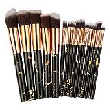 HCFKJ Pincel De Maquillaje Profesional 15 Piezas De Maquillaje Multifuncional Pincel Corrector De Sombra De Ojos Conjunto De Herramientas