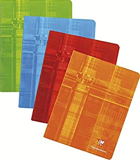 Clairefontaine Classic Staple-Bound Notebook ruled with margin 6 1/2 in. x 8 1/4 in. 48 sheets (colors may vary)