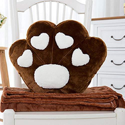 JJFU sierkussen vorm kussen hoofdkussen dier paw full fill simulatie kussen kussen prop blanket 38 * 32cm brown