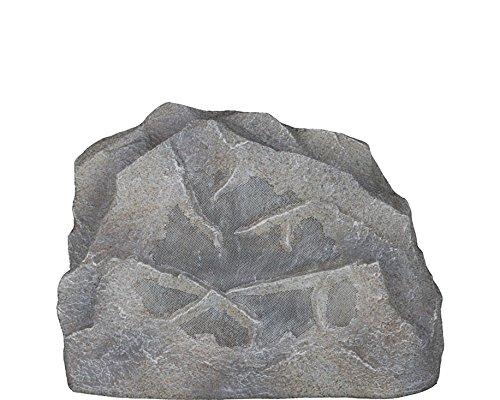 Sonance Rock 63 Stein Außenlautsprecher – hochwertiger Gartenlautsprecher in Steinoptik – Steinlautsprecher für Musik im Garten (Granit)