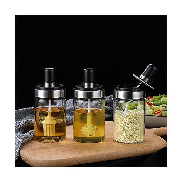 xiaoshenlu Tarro de Miel, frascos de Mermelada, Recipiente Especias, dispensador