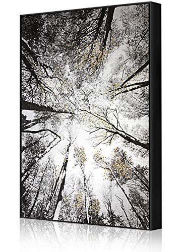 Lamplig Black and White Wall Art Hand Painted Oil Paintings Large Framed Canvas Prints