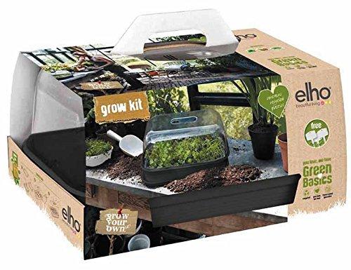 elho übertopf - green basics anzucht set allin1 restyled lebhaft schwarz - 40 x 30 x 19.9 cm