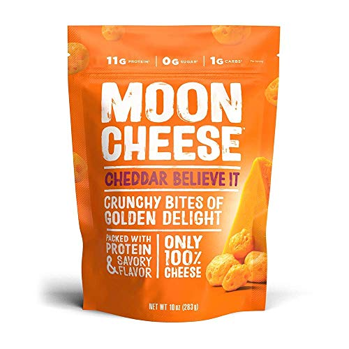 Moon Cheese  100% Natural Cheese Snack  Cheddar  10 oz