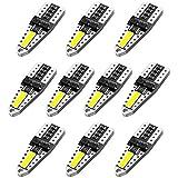 AGLINT T10 LED Lampadine CANBUS 194 168 555 501 2825 per Auto Luce Interna Targa Lampade Luci Posizione Lampadine Tettuccio 10 Pezzi 6500K Bianco
