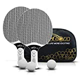 Senston Table Tennis Rackets Set, Professional Table Tennis Racket with 3 Balls, Composite Rubber Ping Pong Paddle Set