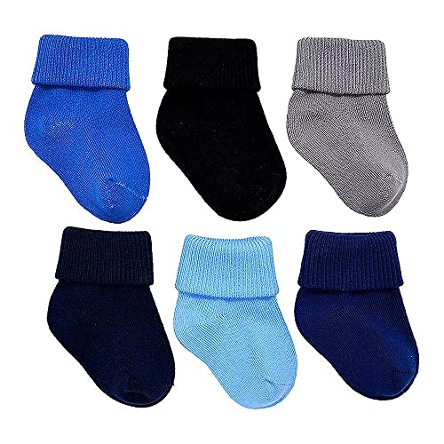 Calcetines de bebé recién nacido, 0-6 meses, para niño pequeño, paquete de 6 unidades, algodón, sin sustancias nocivas, certificado Oeko-Tex®