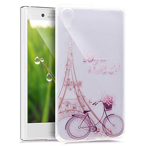Cover Sony Xperia X,Cover Sony Xperia X,Custodia Sony Xperia X Cover,Sony Xperia X disegno colorato TPU con biciclette T Sottile Bumper Case Custodia Cover per Sony Xperia X,Torre biciclette modello