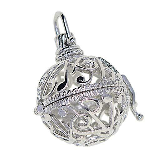 SM SunniMix Ajustes del Colgante del Medallón de Los Encantos de La Jaula de Los Granos para El Collar DIY - Plata 2, Individual