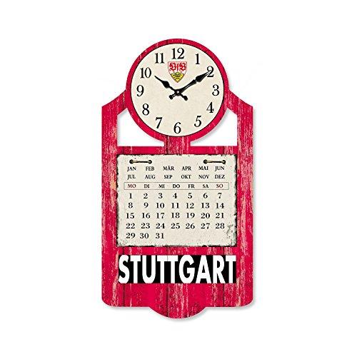 VfB Stuttgart Wanduhr / Kalender / Uhr Maße: ca. 27 x 50 x 1 cm magnetische Kalendertafel! GESCHENKIDEE