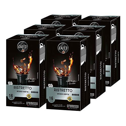 Cafet para Cremesso, Ristretto 96 cápsulas (6x 16 cápsulas)