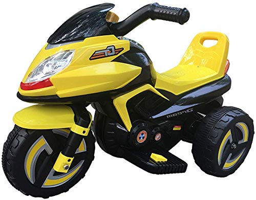 FEE-ZC Kinderbeveiliging Kids Ride on motorfiets, 6 V batterij, 3 wielen Moto voor kinderen van 1-6 jaar, elektrische fiets met koplamp en muziek