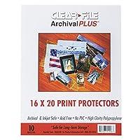 Clear-File Archival-Plus プリントプロテクター 16×20インチ 10個パック