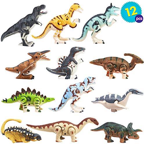 THE TWIDDLERS 12 dinosauri a molla con design diversi | Giocattolo ideale per bambini e neonati | Perfetto regali di compleanno, riempitivi per borse da festa per ore di gioco e divertimento