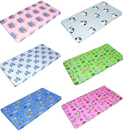 Baby Matratze BUNT für Kinderbett Wiege 70x140 60x120 Kinder Babymatratze (F1, Bett...