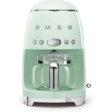 Smeg 50's Retro Style Aesthetic Drip Filter Coffee Machine, 10 cups, Pastel Green