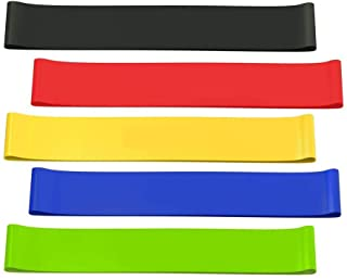 Mainstayae 5 Pcs Resistance Loop Bands, Resistance Exercise Bands for Stretching, Strength Training, Physical Therapy, Nat...