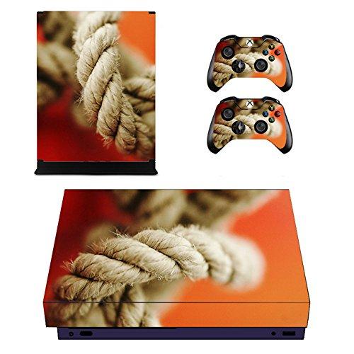 Wondder Xbox One X Pegatina de Piel, Pegatina de Piel Adhesiva de Vinilo de Protección para Xbox One X Consolas + 2 Pieles de Controlador + 2 x Agarraderas de Silicona (Color 21)