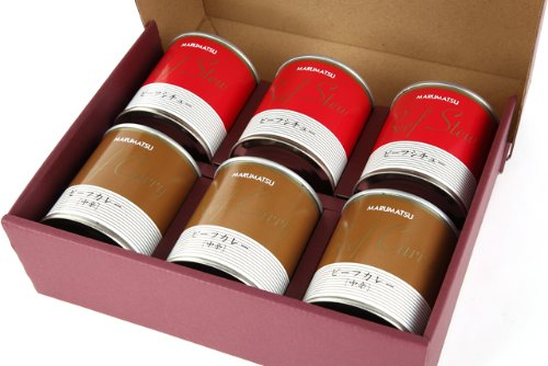 丸松物産 ビーフカレー3缶&ビーフシチュー3缶セット