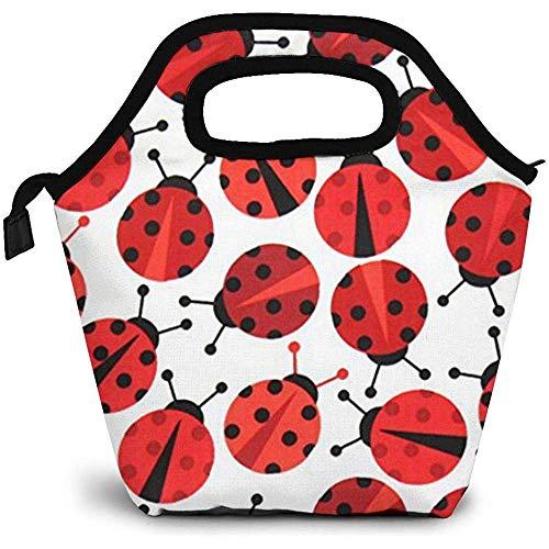 Urban Zoologie Coccinelle Pranzo al sacco rosso Pranzo al sacco isolato Borse per uomo Donna Infermiere